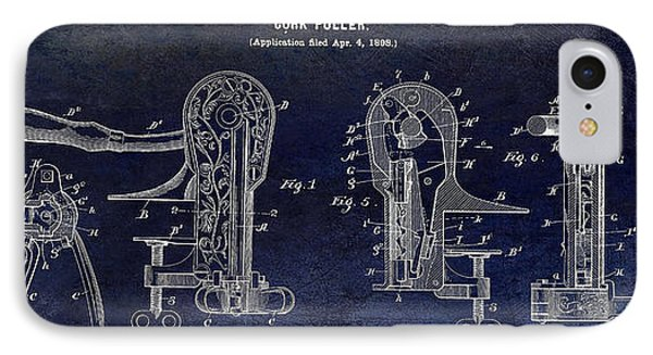 Cork Puller Patent 1899 IPhone Case