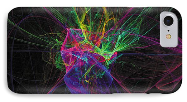Cosmic Phantom IPhone Case by The Art of Marsha Charlebois