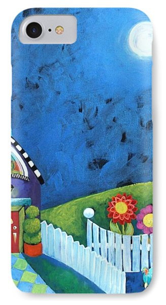 Cottage At Night IPhone Case by Shelley Overton