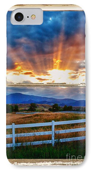Country Beams Of Light Barn Picture Window Portrait View  IPhone Case by James BO  Insogna