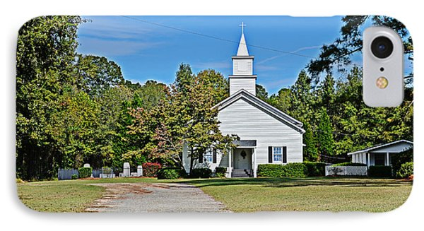 Country Church IPhone Case by Linda Brown
