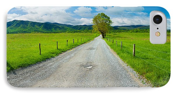 Country Gravel Road Passing IPhone Case