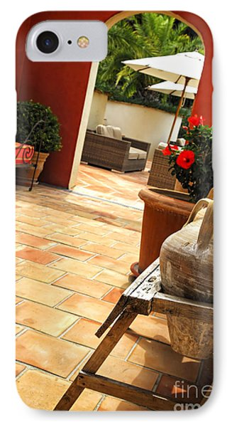 Courtyard Of A Villa IPhone Case by Elena Elisseeva