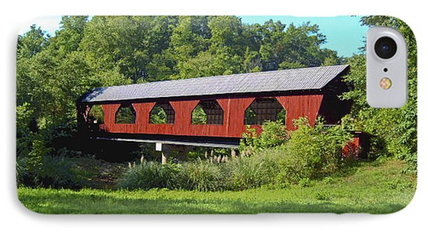 Covered Bridge IPhone Case by Debra Crank