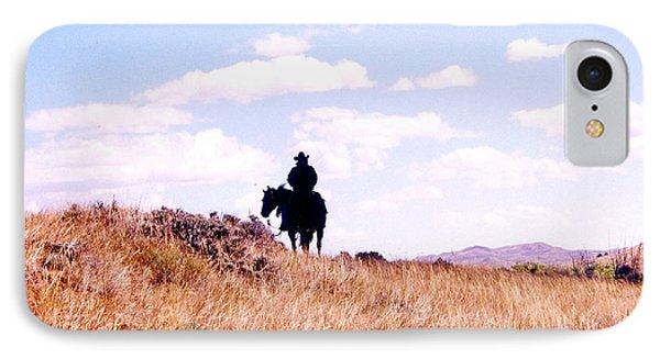 Cowboy Riding Away IPhone Case