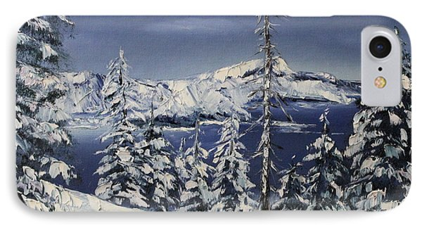 Crater Lake Phone Case by D L Gerring