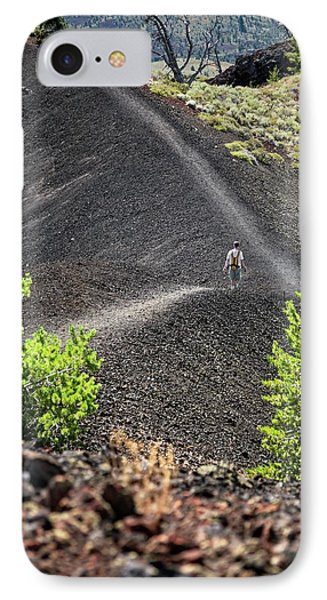 Craters Of The Moon Hiking Trail IPhone Case by Jim West