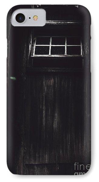 Creepy Open Horror Window In The Dark Shadows IPhone Case by Jorgo Photography - Wall Art Gallery