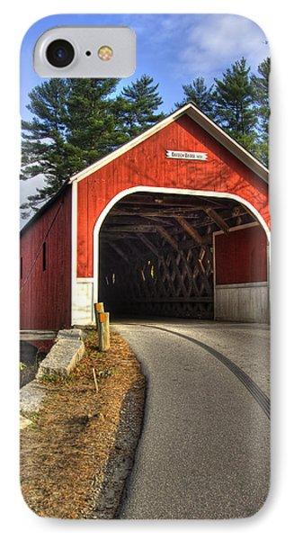 Cresson Covered Bridge IPhone Case by Joann Vitali