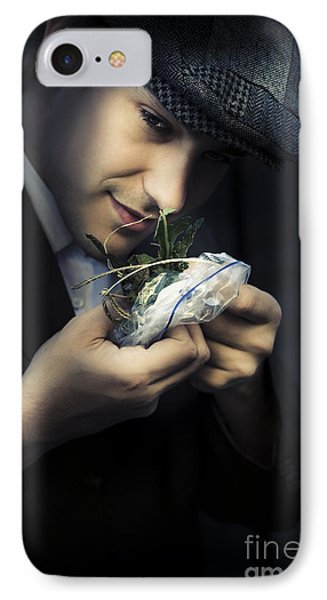 Criminal With Weeds And Green Grass IPhone Case by Jorgo Photography - Wall Art Gallery