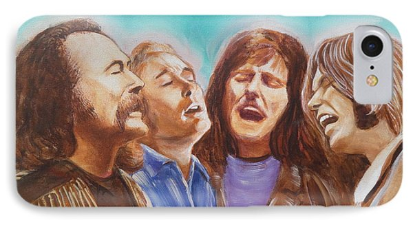 Crosby Stills Nash And Young IPhone 7 Case by Kean Butterfield