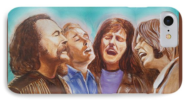 Crosby Stills Nash And Young Phone Case by Kean Butterfield