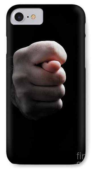 Cross Fingers IPhone Case by Sinisa Botas