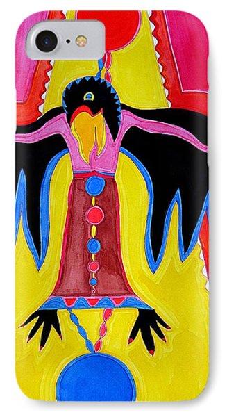 Crow Medicine Original Painting Sold IPhone Case