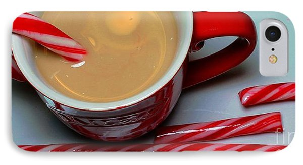 Cup Of Christmas Cheer - Candy Cane - Candy -  Irish Cream Liquor Phone Case by Barbara Griffin