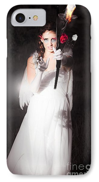 Cupid Igniting The Spark Of Love IPhone Case by Jorgo Photography - Wall Art Gallery