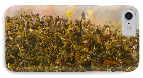 Custers Last Stand IPhone Case by Edgar S Paxson