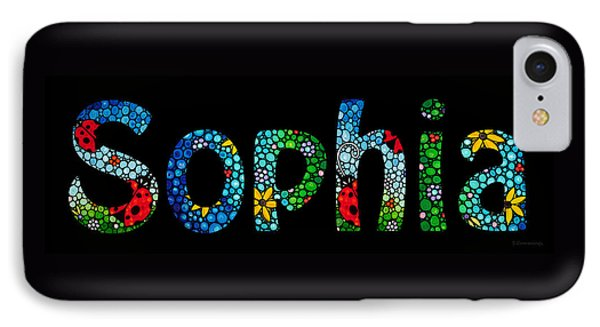Customized Baby Kids Adults Pets Names - Sophia Name IPhone Case by Sharon Cummings