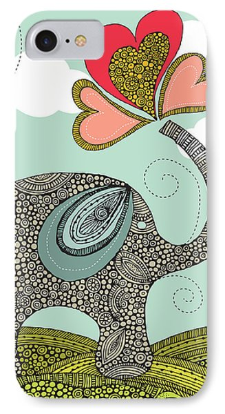 Cute Elephant IPhone 7 Case by Valentina Ramos
