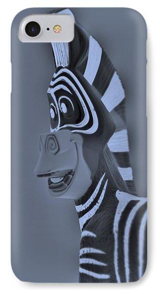 Cyan Zebra IPhone Case