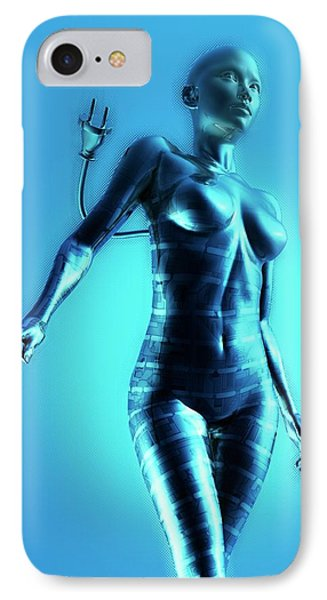 Cyborg IPhone Case by Victor Habbick Visions