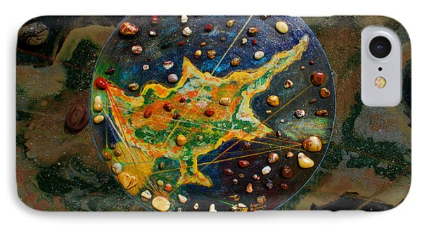 Cyprus Planetary Map IPhone Case by Augusta Stylianou