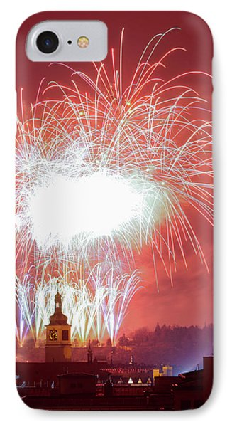 Czech Republic, Prague - New Years IPhone Case by Panoramic Images