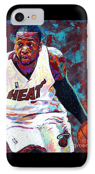 D. Wade IPhone Case by Maria Arango