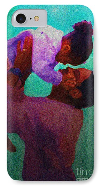 IPhone Case featuring the painting Daddys' Little Girl by Vannetta Ferguson