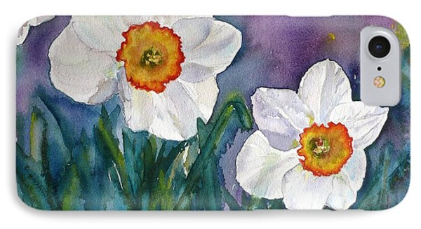 IPhone Case featuring the painting Daffodil Dream by Anna Ruzsan