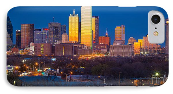Dallas Skyline IPhone 7 Case by Inge Johnsson