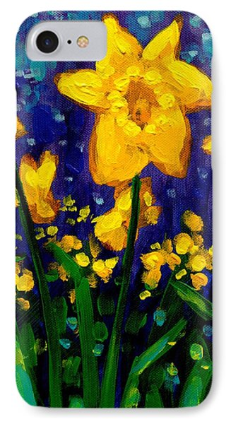 Dancing Daffodils Cropped  IPhone Case by John  Nolan