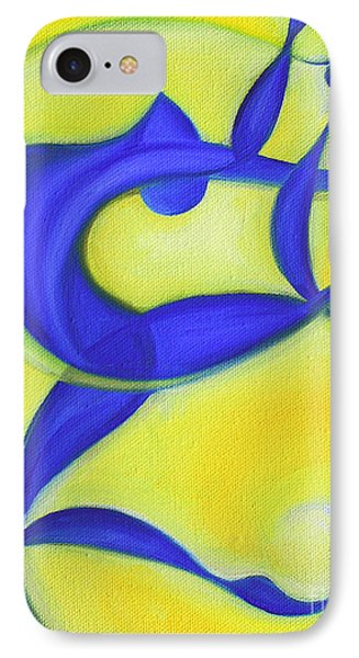 Dancing Sprite In Yellow And Blue IPhone Case by Tiffany Davis-Rustam