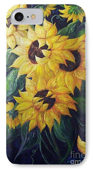 Dancing Sunflowers  Phone Case by Eloise Schneider
