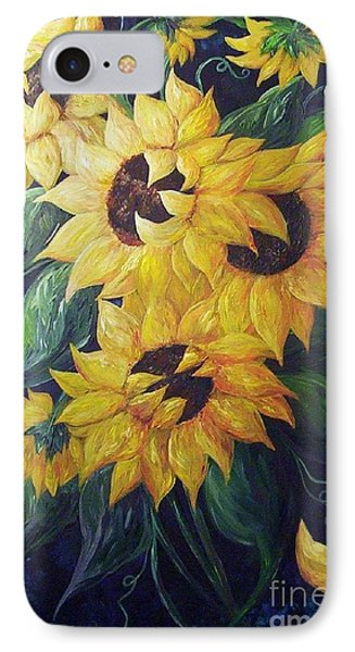 Dancing Sunflowers  Phone Case by Eloise Schneider