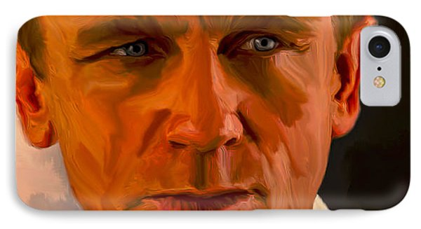 Daniel Craig 007 IPhone Case by Brian Reaves
