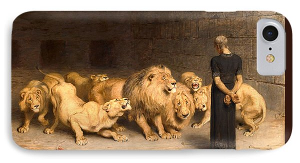 Daniel In The Lions Den IPhone Case by Briton Riviere