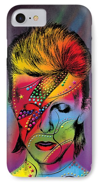 Men iPhone 7 Case - David Bowie by Mark Ashkenazi