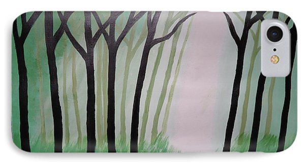 Day Light In Dark Forest Phone Case by Jnana Finearts