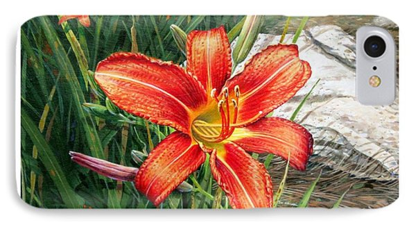 Day Lily IPhone Case by Bob  George