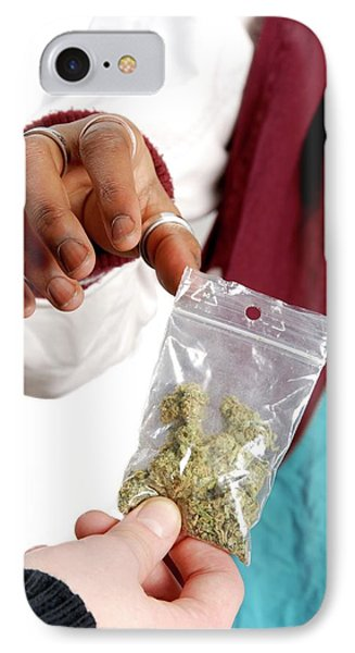 Dealing In Cannabis IPhone Case by Aj Photo