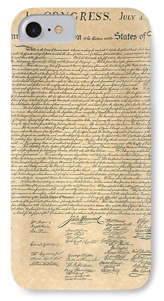 Declaration Of Independence Phone Case by Granger