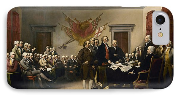 Declaration Of Independence IPhone Case by John Trumbull