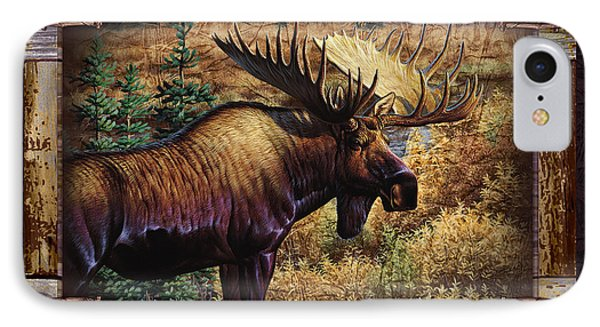 IPhone Case featuring the painting Deco Moose by Cynthie Fisher