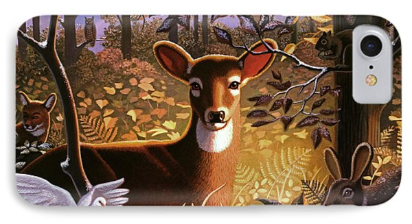 Deer In The Forest IPhone Case by Robin Moline