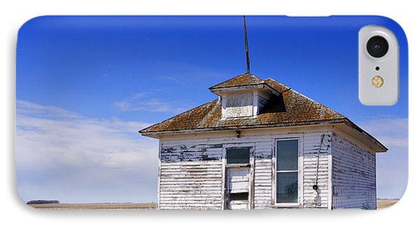 Defunct One Room Country School Building IPhone Case by Donald  Erickson