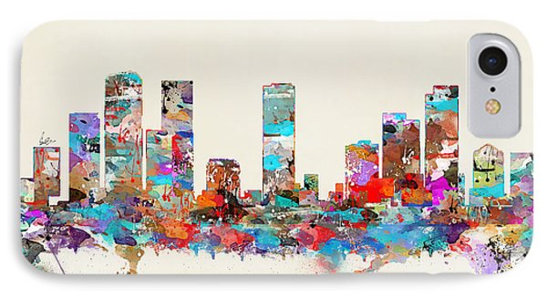 Denver Colorado Skyline IPhone Case by Bri B