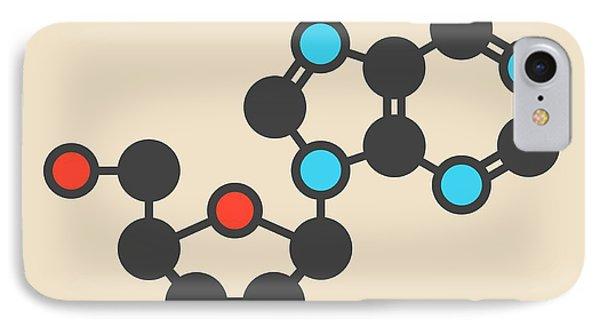 Deoxyadenosine Nucleoside Molecule IPhone Case
