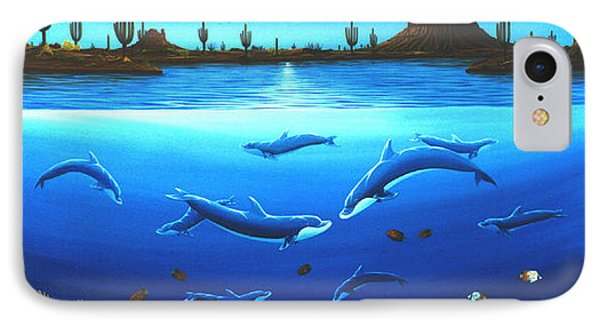 Desert Dolphins IPhone Case by Lance Headlee