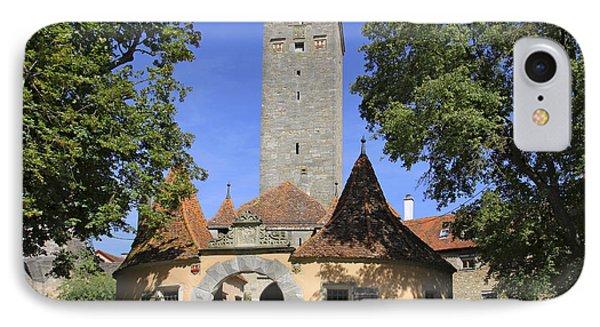 Deutschland, Bayern, Rothenburg Ob Der IPhone Case by Tips Images